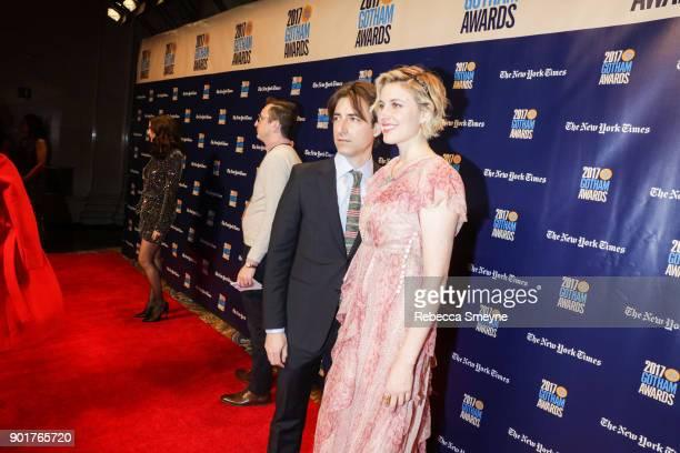 Noah Baumbach and Greta Gerwig on the red carpet at the 2017 IFP Gotham Awards at Cipriani Wall Street on November 27 2017 in New York NY