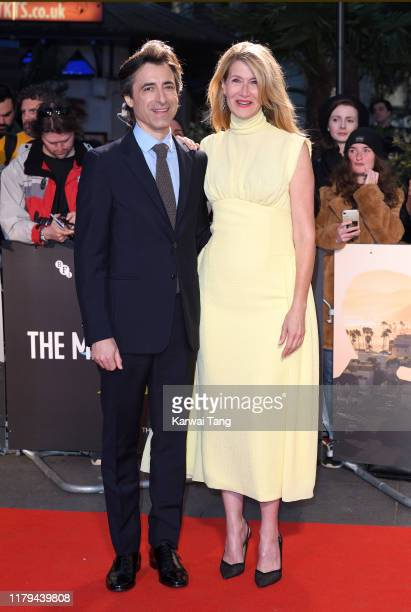 Noah Baumbach and Laura Dern attend the Marriage Story UK Premiere during the 63rd BFI London Film Festival at the Odeon Luxe Leicester Square on...