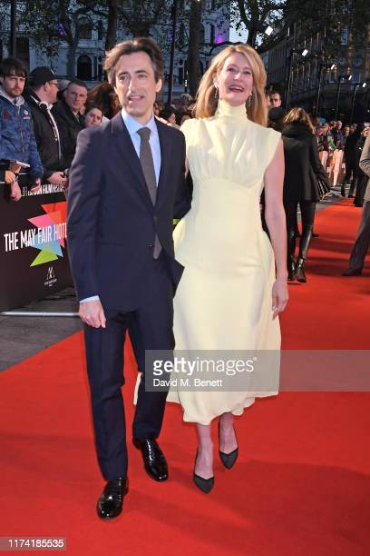 """Noah Baumbach and Laura Dern attend the UK Premiere of """"Marriage Story"""" during the 63rd BFI London Film Festival at Odeon Luxe Leicester Square on..."""