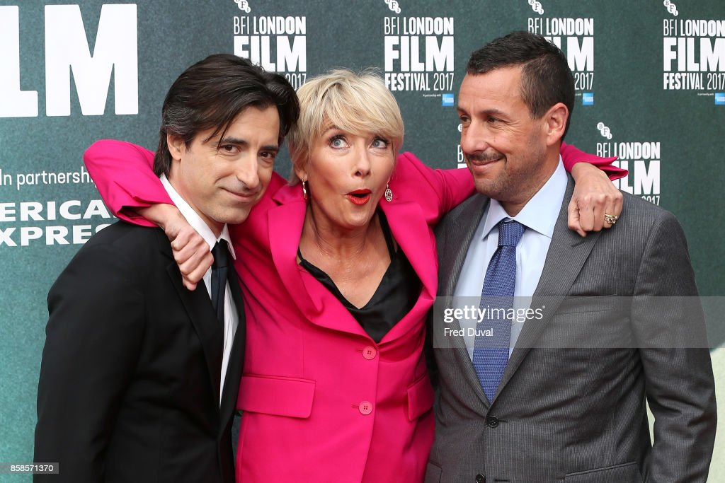 Noah Baumbach, Emma Thompson andAdam Sandler attend 'The Meyerowitz Stories' UK Premiere during the 61st BFI London Film Festival at Embankment Gardens Cinema on October 6, 2017 in London, England.