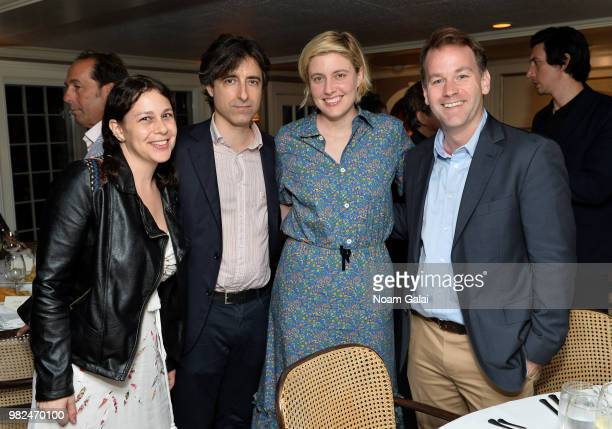 Noah Baumbach Greta Gerwig and Mike Birbiglia attend the Screenwriters Tribute at the 2018 Nantucket Film Festival Day 4 on June 23 2018 in Nantucket...