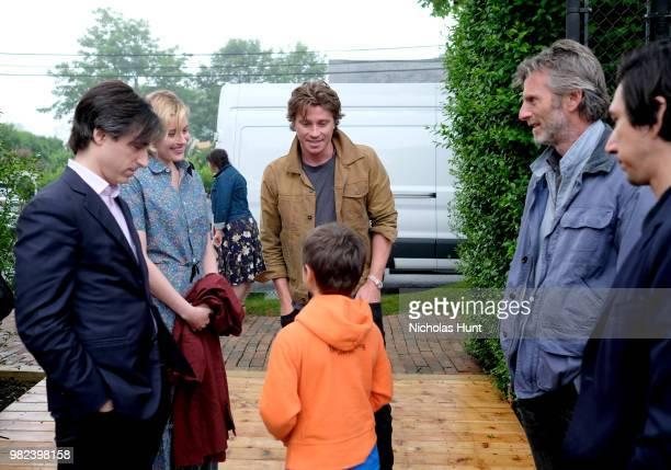 Noah Baumbach Greta Gerwig Garrett Hedlund Andrew Heckler and Adam Driver attend the Screenwriters Tribute at the 2018 Nantucket Film Festival Day 4...