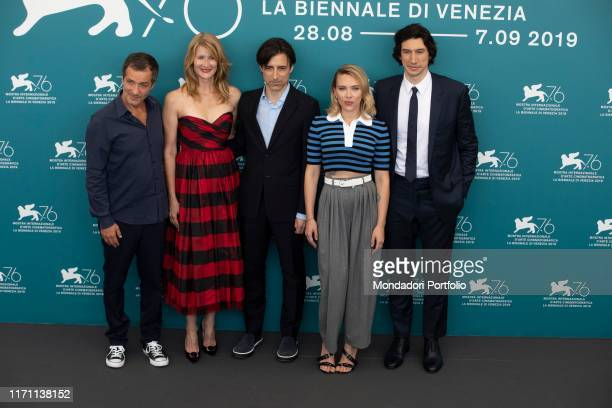 Noah Baumbach Scarlett Johansson Adam Driver Laura Dern David Heyman at the 76 Venice International Film Festival 2019 Marriage Story photocall...