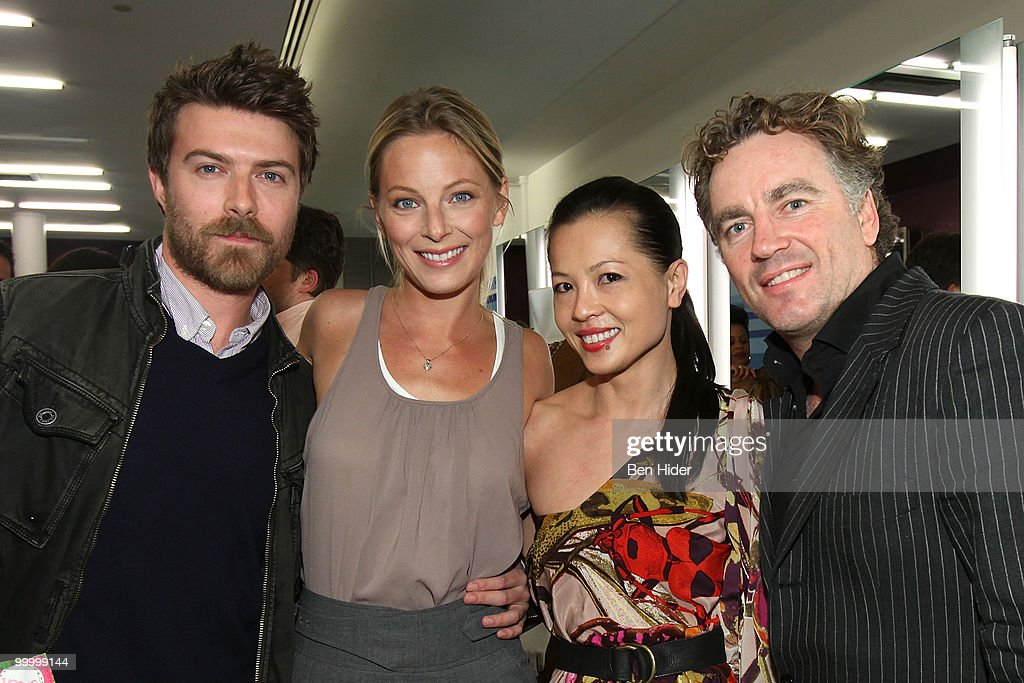 Noah Bean, Actress Anastasia Griffith, Designer Thuy Diep and Rodney Cutler attend the Celebrate Summer in Style party at Cutler Soho Salon on May 19, 2010 in New York City.