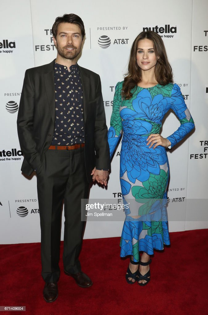 Noah Bean and guest of 'Lemon' attends the Shorts Program: New York - Group Therapy during the 2017 Tribeca Film Festival at Regal Battery Park Cinemas on April 21, 2017 in New York City.