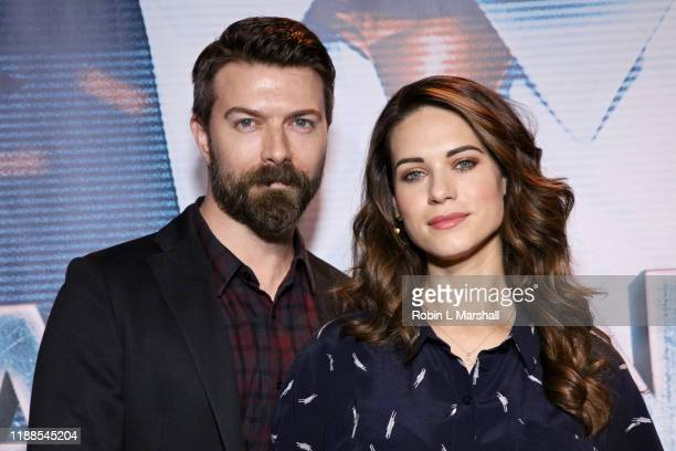 Noah Bean and Lyndsy Fonseca attend the Premiere of Agent Emerson at iPic Theater on November 18 2019 in Los Angeles California