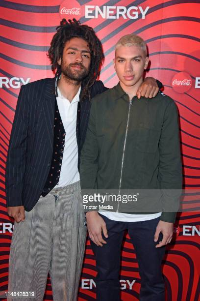 Noah Becker and his brother Elias Becker attend the Coca Cola Energy Release Party at GAGA Club on June 6 2019 in Hamburg Germany