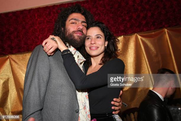Noah Becker and his girlfriend Taina Moreno during the 20th Lambertz Monday Night 2018 at Alter Wartesaal on January 29 2018 in Cologne Germany