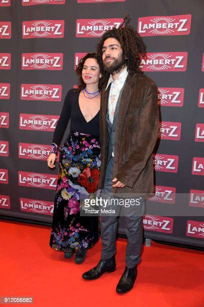 Noah Becker and his girlfriend Taina Moreno during the Lambertz Monday Night 2018 at Alter Wartesaal on January 29 2018 in Cologne Germany