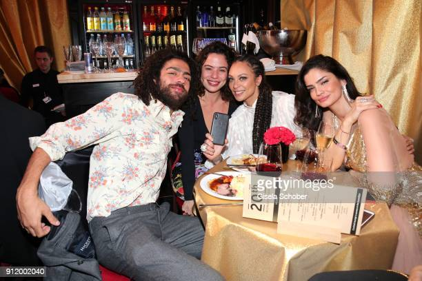 Noah Becker and his girlfriend Taina Moreno Lilly Becker Shermine Shahrivar during the 20th Lambertz Monday Night 2018 at Alter Wartesaal on January...