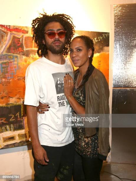 Noah Becker and his mother Barbara Becker during the Noah Becker 'Bake all Day' Vernissage on June 22 2017 in Hamburg Germany