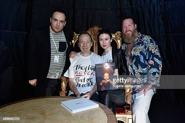 Noah Becker Anthony HadenGuest Emerald Gruin and Gregory de la Haba attend the OMAR'S and MAISON MONTAIGNE PARIS Host Enchanted Hours at Exclusive...