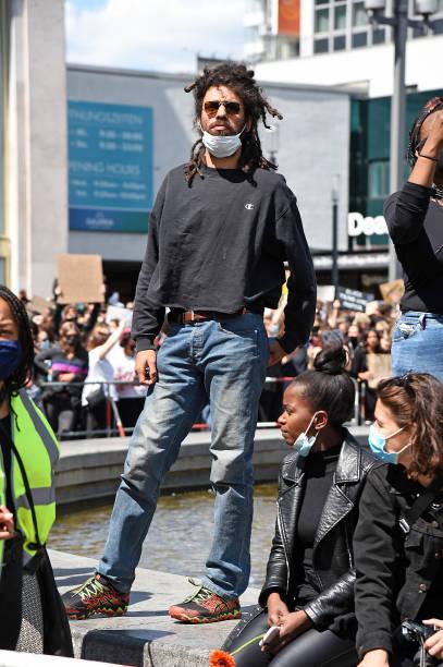 """DEU: Celebrities At """"Silent Demo – Nein Zu Rassismus"""" In Berlin"""