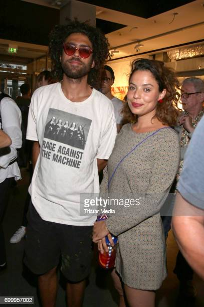 Noah Becker with his girlfriend Larissa during the Noah Becker 'Bake all Day' Vernissage on June 22 2017 in Hamburg Germany