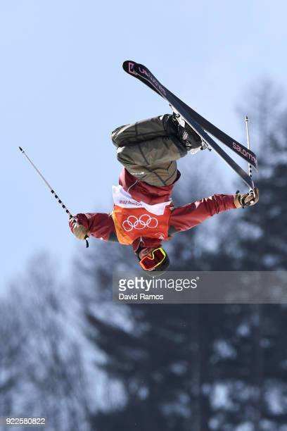 Noah Bowman of Canada competes during the Freestyle Skiing Men's Ski Halfpipe Final on day thirteen of the PyeongChang 2018 Winter Olympic Games at...