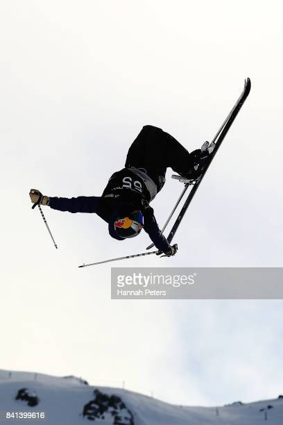 Noah Bowman of Canada competes during the Winter Games NZ FIS Men's Freestyle Skiing World Cup Halfpipe Finals at Cardrona Alpine Resort on September...