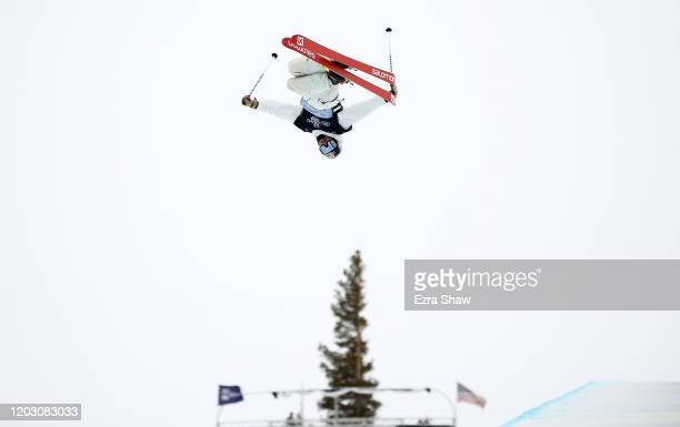 Noah Bowman of Canada competes in the Men's Freeski Halfpipe Qualifications at the 2020 U.S. Grand Prix at Mammoth Mountain on January 30, 2020 in...