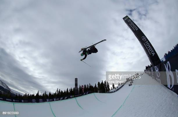Noah Bowman of Canada competes in the Superpipe qualification during Day 1 of the Dew Tour on December 13 2017 in Breckenridge Colorado