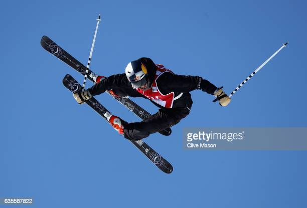 Noah Bowman of Canada in action during the FIS Freestyle World Cup Ski Halfpipe Qualification at Bokwang Snow Park on February 16 2017 in...