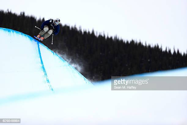 Noah Bowman of Canada takes a practice run in the halfpipe during the 2017 US Freeskiing Grand Prix at Copper Mountain on December 13 2016 in Copper...