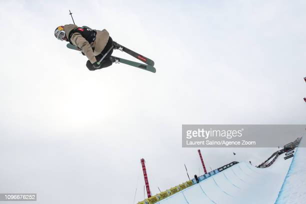 Noah Bowman of Canada wins the bronze medal during the FIS World Freestyle Ski Championships Men's and Women's Halfpipe on February 9 2019 in Park...