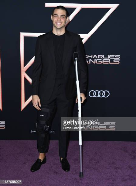 Noah Centineo arrives at the Premiere Of Columbia Pictures' Charlies Angels at Westwood Regency Theater on November 11 2019 in Los Angeles California