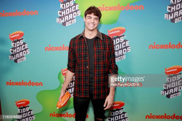 Noah Centineo attends Nickelodeon's 2019 Kids' Choice Awards at Galen Center on March 23 2019 in Los Angeles California