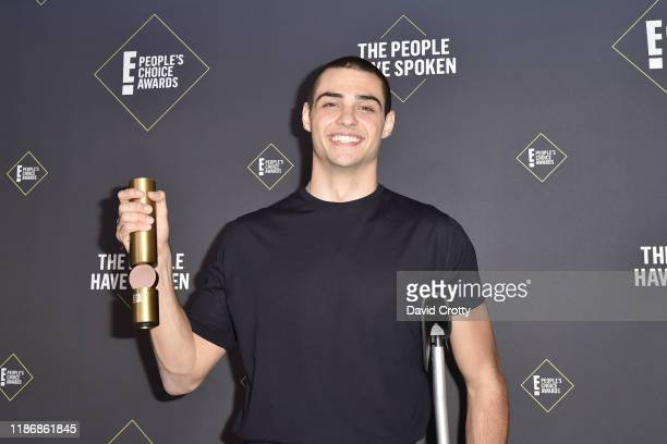 Noah Centineo attends The 2019 E People's Choice Awards Press Room at The Barker Hanger on November 10 2019 in Santa Monica California
