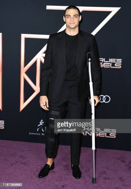 Noah Centineo attends the premiere of Columbia Pictures' Charlie's Angels at Westwood Regency Theater on November 11 2019 in Los Angeles California
