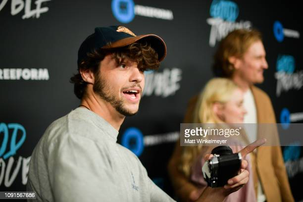 Noah Centineo attends the premiere of Freeform's Good Trouble at Palace Theatre on January 08 2019 in Los Angeles California