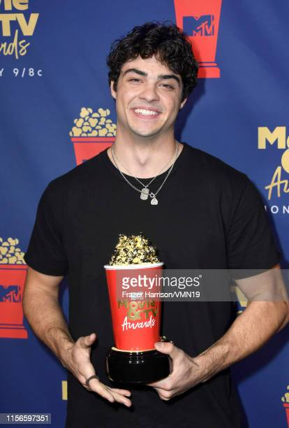 Noah Centineo winner of the Breakthrough Performance award for 'To All the Boys I've Loved Before' attends the 2019 MTV Movie and TV Awards at Barker...