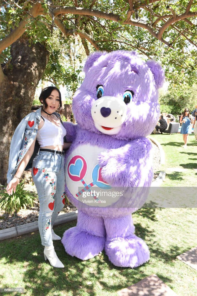 Noah Cyrus and a Care Bear attend Lucky Lounge Presents Desert Jam on April 15, 2017 in Palm Springs, California.