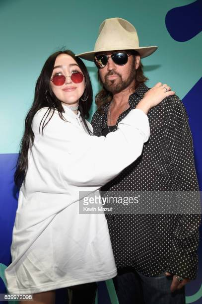 Noah Cyrus and Billy Ray Cyrus attend the 2017 MTV Video Music Awards at The Forum on August 27 2017 in Inglewood California