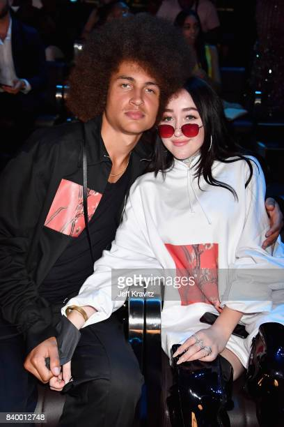 Noah Cyrus and guest attends the 2017 MTV Video Music Awards at The Forum on August 27 2017 in Inglewood California