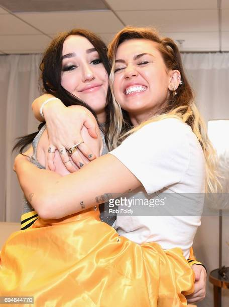 Noah Cyrus and Miley Cyrus attend iHeartSummer '17 Weekend by ATT at Fontainebleau Miami Beach on June 10 2017 in Miami Beach Florida