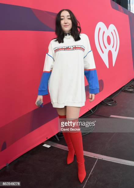 Noah Cyrus backstage during the Daytime Village Presented by Capital One at the 2017 HeartRadio Music Festival at the Las Vegas Village on September...