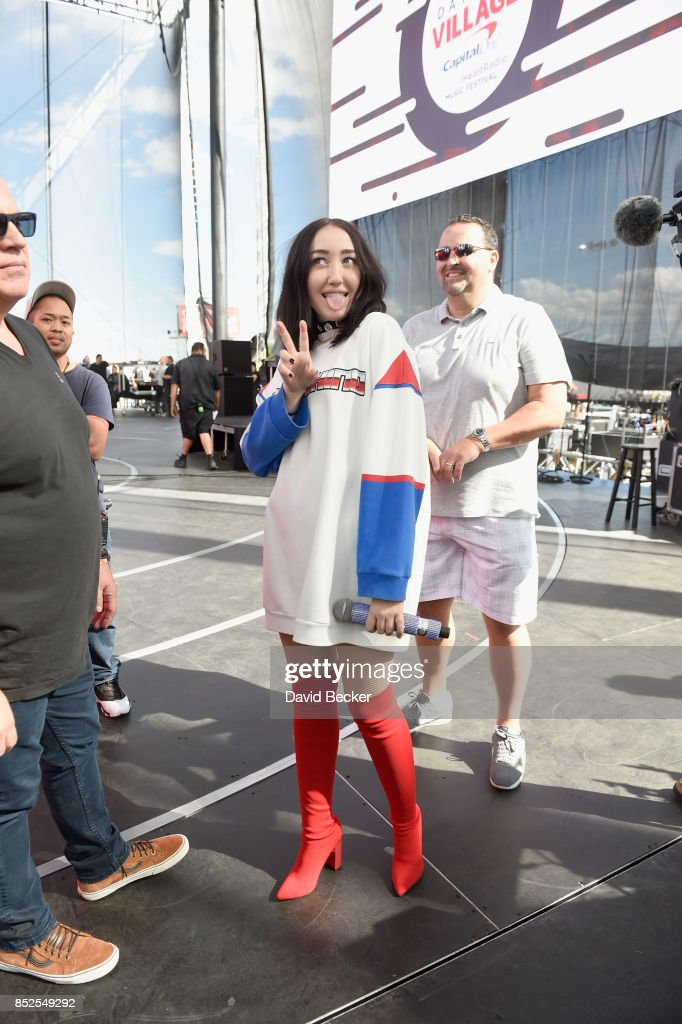 Noah Cyrus backstage during the Daytime Village Presented by Capital One at the 2017 HeartRadio Music Festival at the Las Vegas Village on September 23, 2017 in Las Vegas, Nevada.