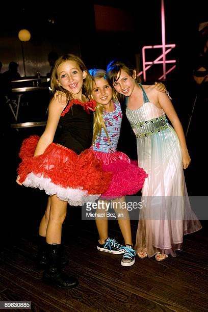 Noah Cyrus Emily Reeves and Ryan Newman arrive at the Rockin' PreParty for the 2009 Teen Choice Awards at Level 3 club in Hollywood Highland Center...