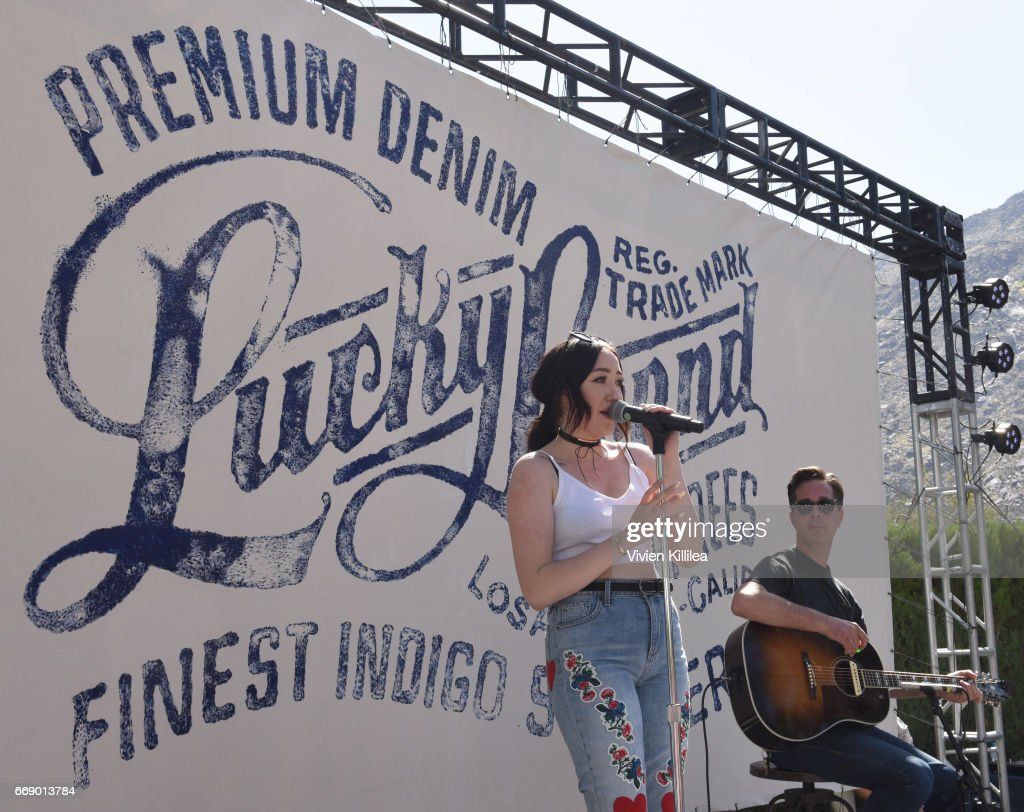 Noah Cyrus performs at Lucky Lounge Presents Desert Jam on April 15, 2017 in Palm Springs, California.