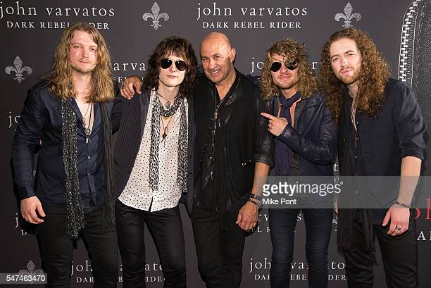 Noah Denney Tyler Bryant John Varvatos Caleb Crosby and Graham Whitford attend the John Varvatos Spring/Summer 2017 Fashion Show after party at John...