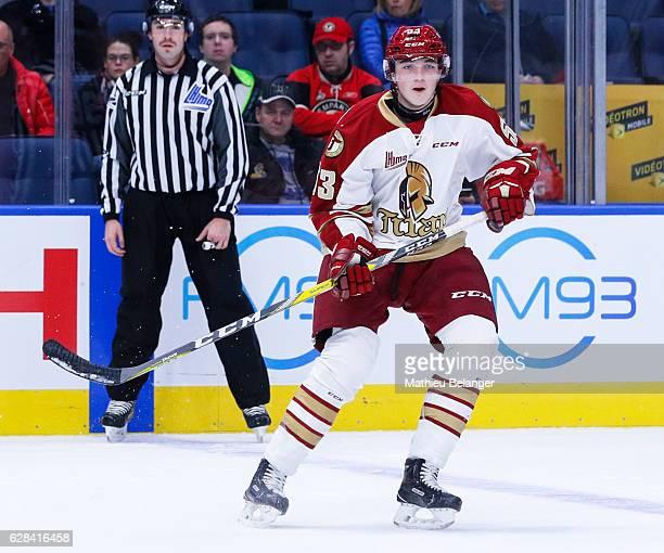 Noah Dobson of the Acadie-Bathurst Titan skates during his QMJHL hockey game at the Centre Videotron on November 9, 2016 in Quebec City, Quebec,...