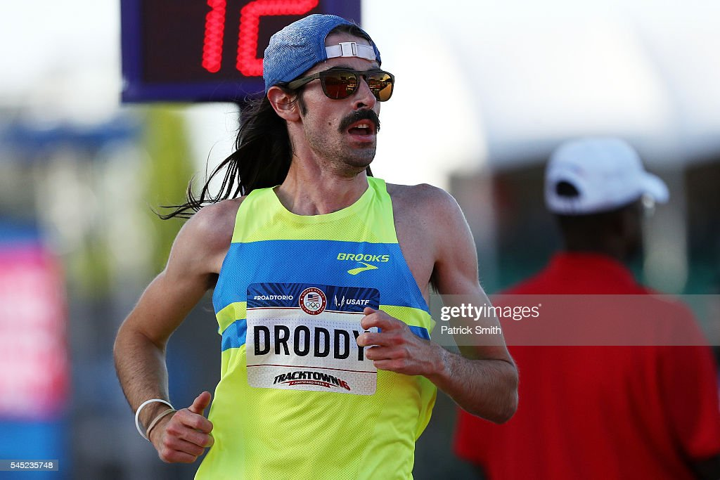 Noah Droddy runs in the Men's 10000 Meter Final during the 2016 U.S. Olympic Track & Field Team Trials at Hayward Field on July 1, 2016 in Eugene, Oregon.