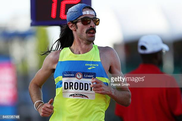 Noah Droddy runs in the Men's 10000 Meter Final during the 2016 US Olympic Track Field Team Trials at Hayward Field on July 1 2016 in Eugene Oregon