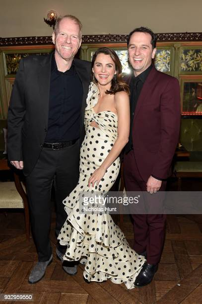 Noah Emmerich Keri Russell and Matthew Rhys attend 'The Americans' Season 6 Premiere After Party at Tavern On The Green on March 16 2018 in New York...