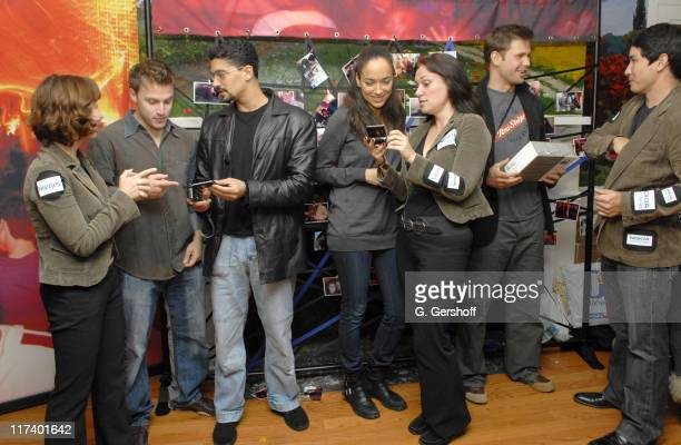 Noah Fleiss Mido Hamada Carmen Chaplin and Matt Davis with Nokia representatives