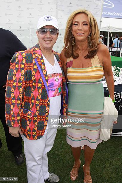 Noah G Pop and Denise Richie attend the fourth weekend of the 2009 MercedesBenz Polo Challenge at Blue Star Jets Field at Two Trees Farm on August 8...