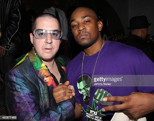 Noah G Pop and Dennis the Menace attend the DEF JAM 25th anniversary celebration at Juliet on September 12 2009 in New York City