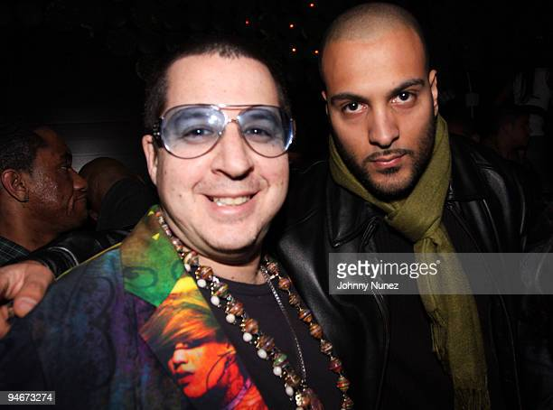 Noah G Pop and DJ L attend Alicia Keys' The Element of Freedom album release party at Greenhouse on December 16 2009 in New York City