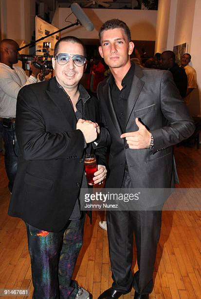 Noah G Pop and Donnie Klang attend the Hennessy Black Fashion Week Finale party at Ramscale Loft Studios on September 18 2009 in New York City