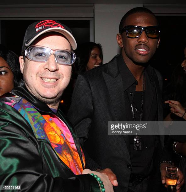 Noah G Pop and Fabolous attend Fabolous' birthday party at the Hotel on Rivington on November 18 2009 in New York City